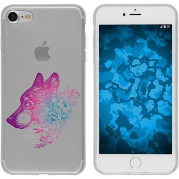 Apple iPhone 7 / 8 Silikon-Hülle Floral  M3-6