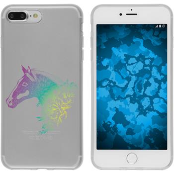 Apple iPhone 8 Plus Silicone Case floral M5-4