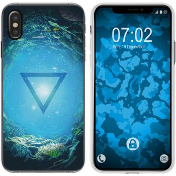 Apple iPhone Xs Max Silicone Case Element water M4