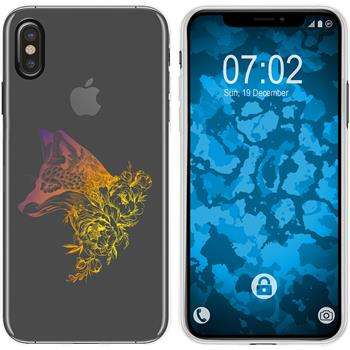 Apple iPhone Xs Max Silicone Case floral Fox M1-3