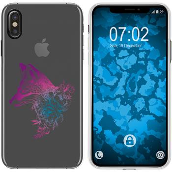 Apple iPhone Xs Max Silicone Case floral Fox M1-6
