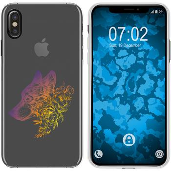 Apple iPhone Xs Max Silicone Case floral M3-3
