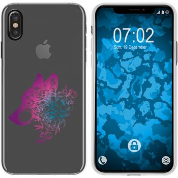 Apple iPhone Xs Max Silicone Case floral M3-6