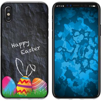Apple iPhone X / XS Silicone Case Easter M6