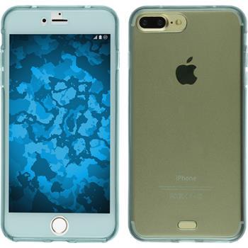 Silikon Hülle iPhone 7 Plus 360° Fullbody hellblau