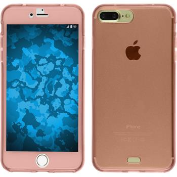 Silikon Hülle iPhone 7 Plus / 8 Plus 360° Fullbody rosa Case