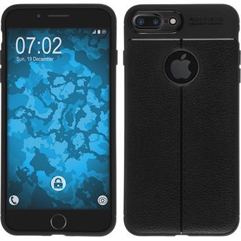Silicone Case iPhone 8 Plus leather optics black Case