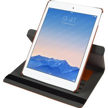 Artificial Leather Case for Apple iPad Air 2 360° orange