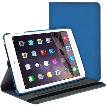 Artificial Leather Case for Apple iPad Mini 3 2 1 360° Denim Look light blue