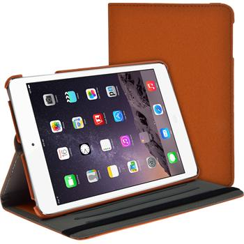 Artificial Leather Case for Apple iPad Mini 3 2 1 360° Denim Look orange