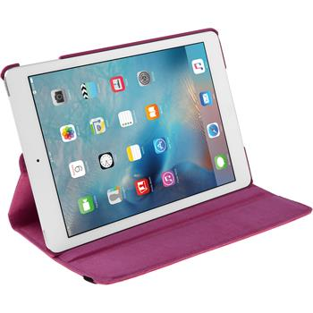 Artificial Leather Case for Apple iPad Mini 4 360° hot pink
