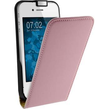Artificial Leather Case for Apple iPhone 4S Flipcase pink