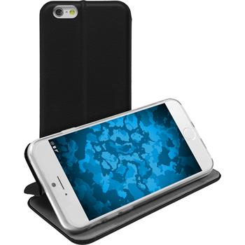 Artificial Leather Case for Apple iPhone 6s / 6  black + protective foils