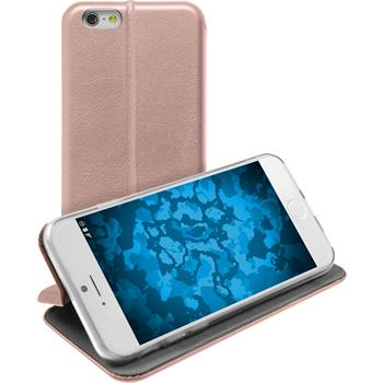 Artificial Leather Case for Apple iPhone 6s / 6  Rose Gold + protective foils