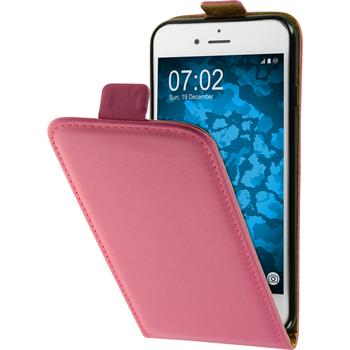 Artificial Leather Case for Apple iPhone 7 Flip-Case hot pink