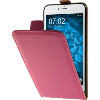 Artificial Leather Case for Apple iPhone 7 Plus Flip-Case hot pink