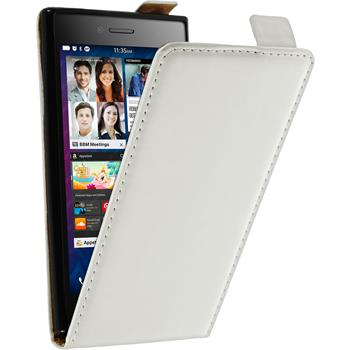 Artificial Leather Case for BlackBerry Leap Flipcase white