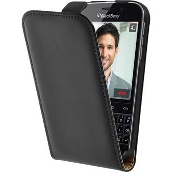 Artificial Leather Case for BlackBerry Q20 Flipcase black