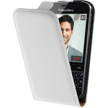 Artificial Leather Case for BlackBerry Q20 Flipcase white
