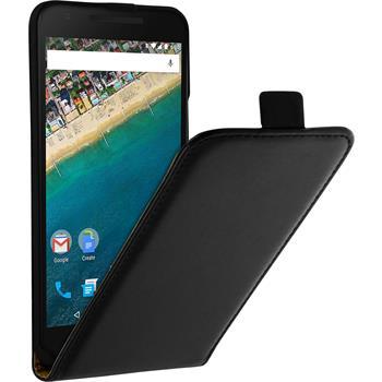 Artificial Leather Case for Google Nexus 5X Flip-Case black