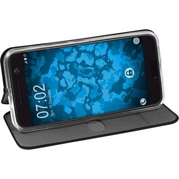 Artificial Leather Case for HTC 10  black + protective foils