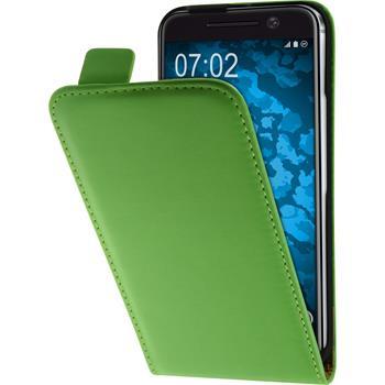 Artificial Leather Case for HTC 10 Flip-Case green + protective foils
