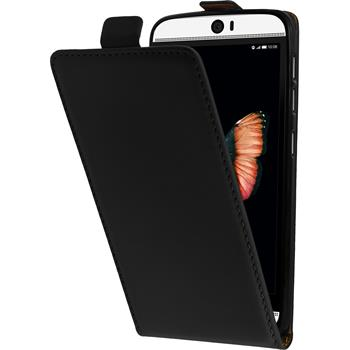 Artificial Leather Case for HTC Butterfly 3 Flip-Case black