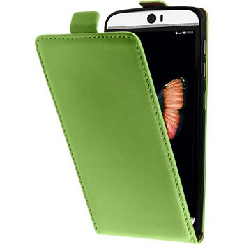 Artificial Leather Case for HTC Butterfly 3 Flip-Case green