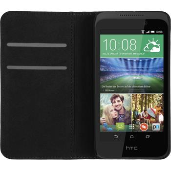 Artificial Leather Case for HTC Desire 320 Bookstyle black