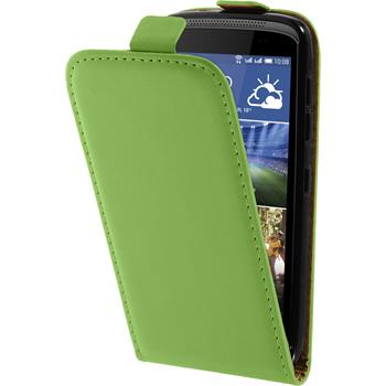 Artificial Leather Case for HTC Desire 326G Flipcase green