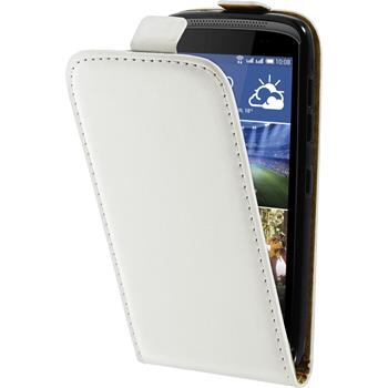 Artificial Leather Case for HTC Desire 326G Flipcase white