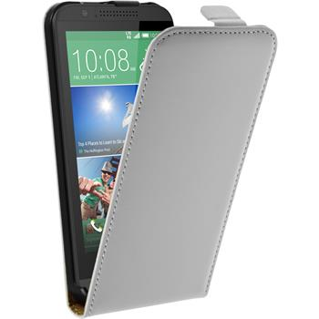 Artificial Leather Case for HTC Desire 510 Flipcase white