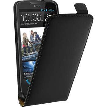 Artificial Leather Case for HTC Desire 516 Flipcase black