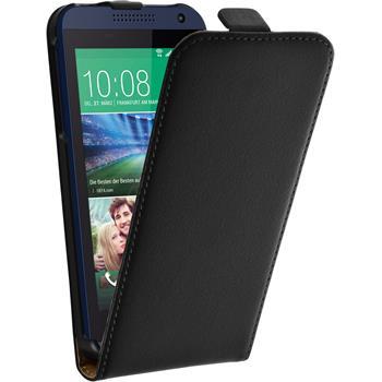 Artificial Leather Case for HTC Desire 610 Flipcase black