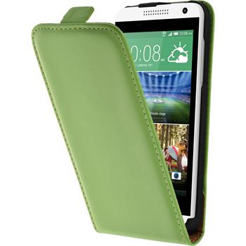 Artificial Leather Case for HTC Desire 610 Flipcase green