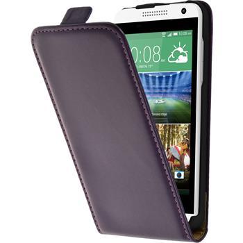 Artificial Leather Case for HTC Desire 610 Flipcase purple
