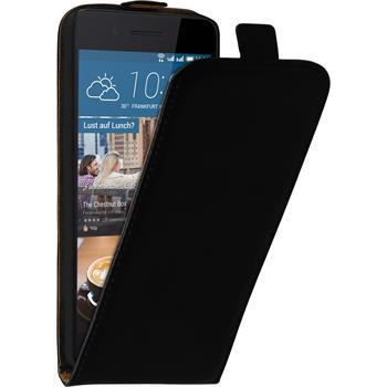 Artificial Leather Case for HTC Desire 728 Flip-Case black