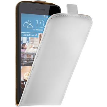 Artificial Leather Case for HTC Desire 728 Flip-Case white