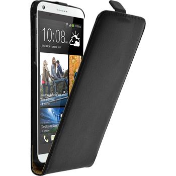Artificial Leather Case for HTC Desire 816 Flipcase black