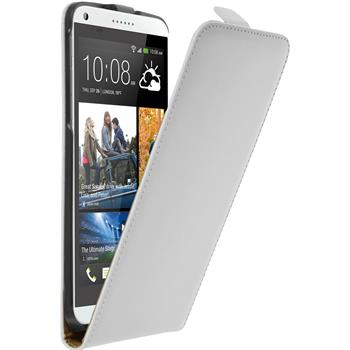 Artificial Leather Case for HTC Desire 816 Flipcase white