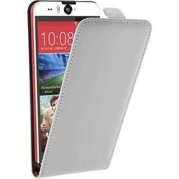 Artificial Leather Case for HTC Desire Eye Flipcase white