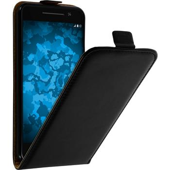 Artificial Leather Case for HTC One A9 Flip-Case black