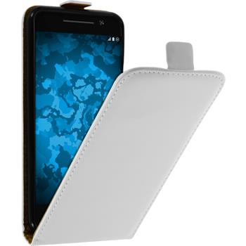 Artificial Leather Case for HTC One A9 Flip-Case white
