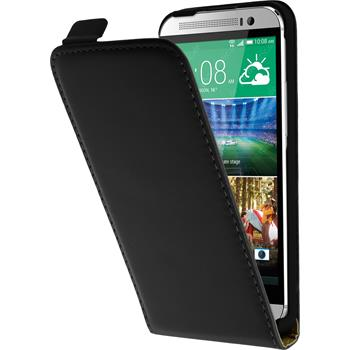 Artificial Leather Case for HTC One E8 Flipcase black