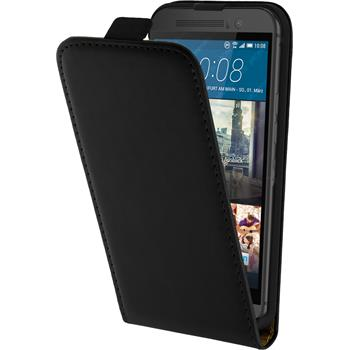 Artificial Leather Case for HTC One M9 Flipcase black