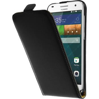 Artificial Leather Case for Huawei Ascend G7 Flipcase black