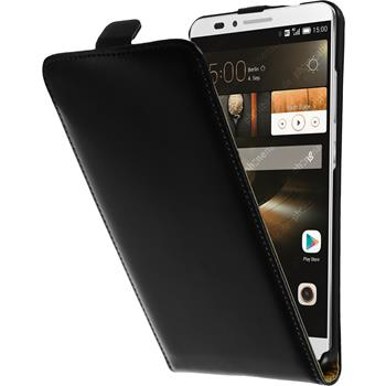 Artificial Leather Case for Huawei Ascend Mate 7 Flipcase black