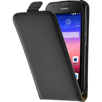 Artificial Leather Case for Huawei Ascend Y550 Flipcase black