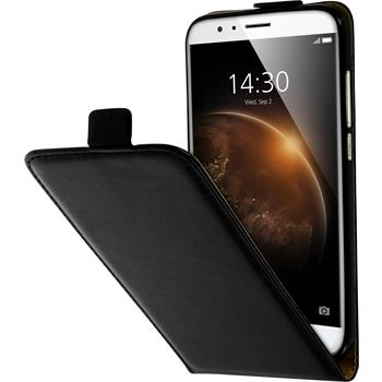 Artificial Leather Case for Huawei G8 Flip-Case black