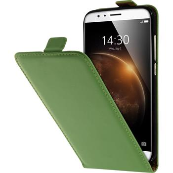 Artificial Leather Case for Huawei G8 Flip-Case green